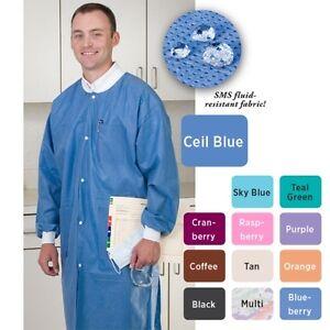 Valumax Extra Safe Lab Coats Ceil Blue Xx Large 10 Pk