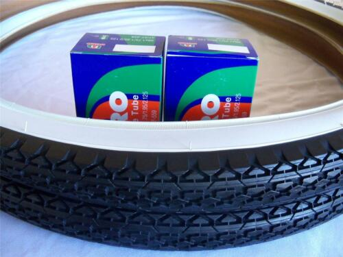 2 2 Two White Wall 26x2.125 Bicycle Tires /& Duro inner tubes//Beach Cruiser