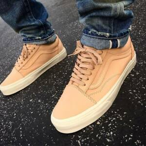3c546dc632 Vans Unisex Old Skool DX VEGGIE TAN LEATHER TAN Skate Shoes Mens 12 ...