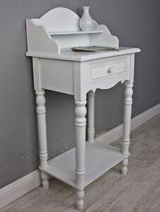 console-secretaire-Blanc-ancien-maison-de-campagne-NEUF-bois-table-Couloir