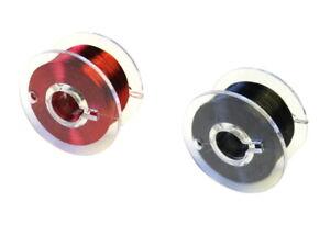 S909-Set-Kupferlackdraht-rot-schwarz-0-1mm-Lackdraht-CU-Draht-auf-Spule-je-100m
