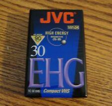 PACK 3 K7 JVC EC-30 EHG 30 MIN VHS-C VHSC VIDEOCASSETTE CAMESCOPE NEUF MINT