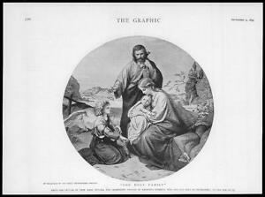 1893-FINE-ART-Antique-Print-Holy-Family-Professor-Karl-Muller-German-Artist-51