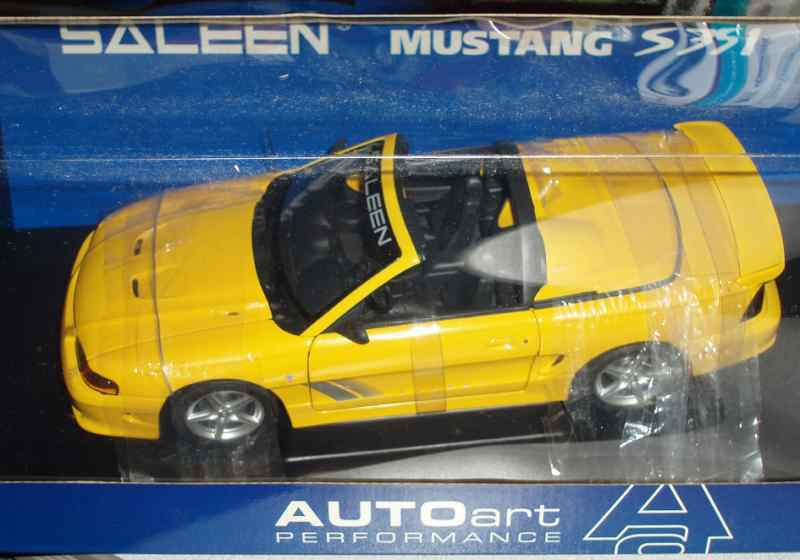 Ford mustang - kunst 1998 saleen s351 conv 1   18 gelbe vhtf