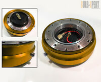 Aftermarket Polished Gold Racing Steering Wheel Hub Quick Release 6-bolts