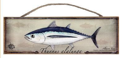 Bluefin Tuna Rustic Wall Sign Plaque Gifts Men Fishing Fishermen Fish Outdoors