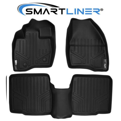 SMARTLINER Floor Mat Set For 2015-2016 Ford Explorer No 2nd Row Center Console