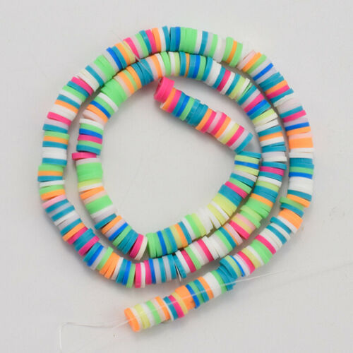 Loose Beads Handmade Accessories Polymer Clay Disc Heishi Crafting DIY Spacer