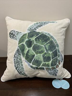 coastal collection handcrafted sea turtle beach nautical throw pillow large 20 ebay