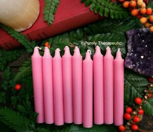 Details about CANDLES PINK WISH SPELL ALTAR RITUAL Set of 9 Wicca Pagan  Metaphysical Witch