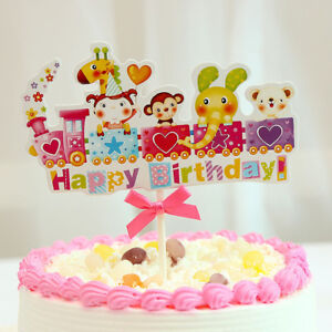 Terrific Happy Birthday Cupcake Topper Cake Topper Kids Toddler Personalised Birthday Cards Veneteletsinfo