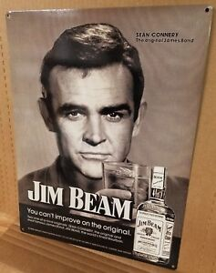 Jim-Beam-Sean-Connery-vintage-whiskey-ad-reproduction-steel-sign-bar-decor