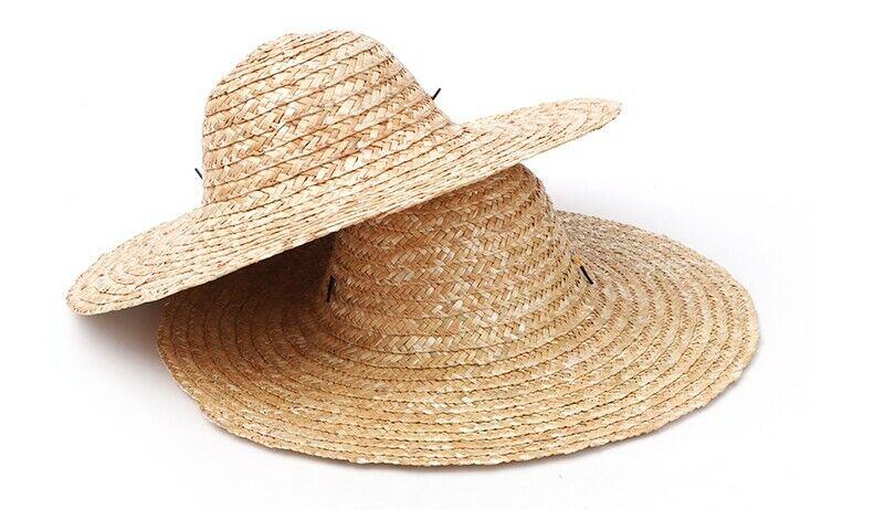 vintage wide brim straw hat - image 1