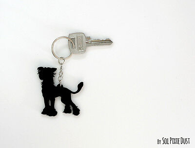 Keychain Silhouette Chinese Crested