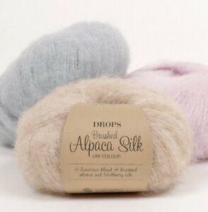 77-Alpaca-23-Silk-This-knitting-yarn-feather-light-Drops-BRUSHED-ALPACA-SILK