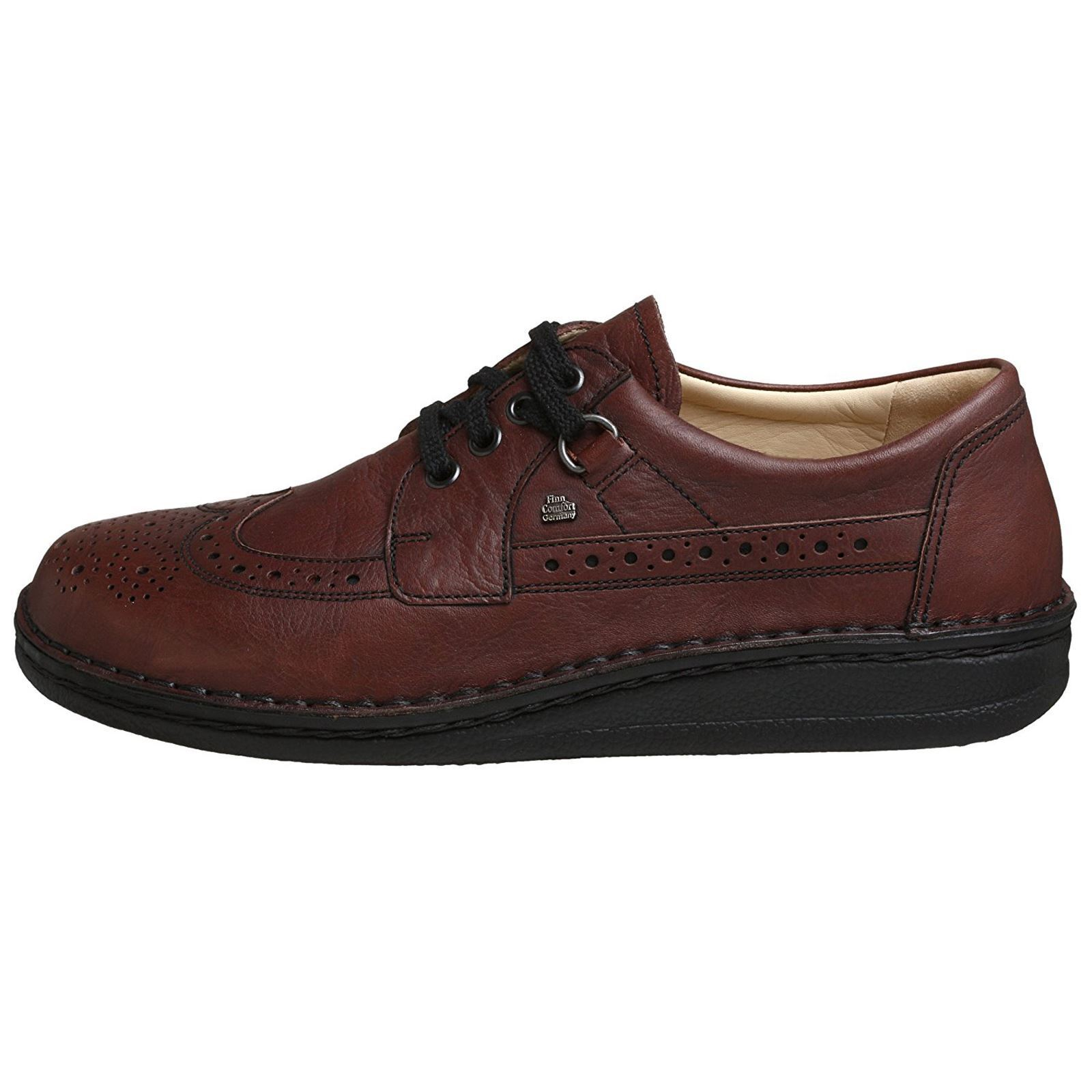 Finn Comfort Mens York Dark Brown Leather shoes
