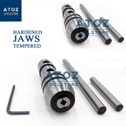 """2 Pcs Tap Wrench Piloted Spindle Capacity Drill 1//16/""""-1//4/"""" /& 1//4/""""-1//2/"""" Lathe Set"""