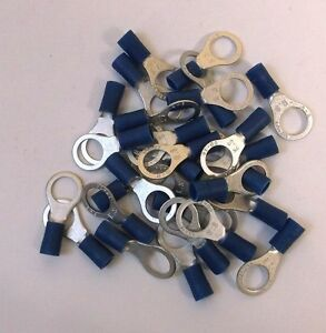 "30 Pack of Ancor Brand Blue 5/16"" Ring End Terminals for 16-14 ga. wire"
