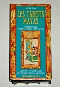Les-Tarots-Mayas-Laura-Tuan-OOP-92-Card-Deck-amp-Book-French-VERY-RARE