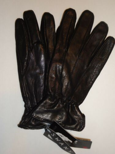 Ladies Swany Thinsulate Leather Driving Gloves,Black