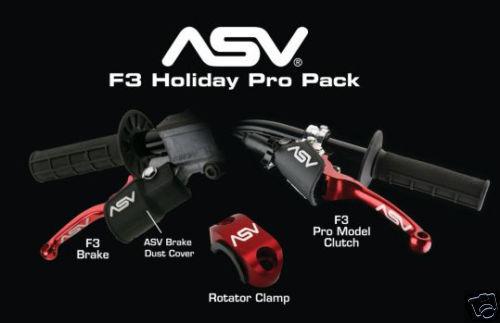 Asv Asv Asv Urlaub Bremse + pro Kupplungs Hebel Yamaha Yfz450r Rot 7f9b7a