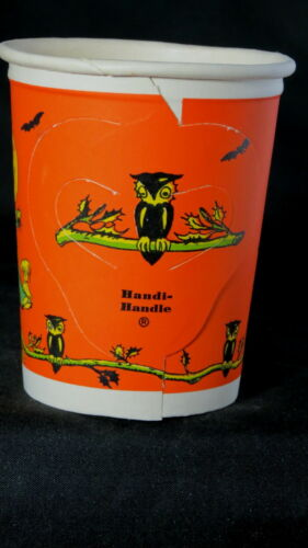 1949 six wrapped in cellophane Halloween drinking cups