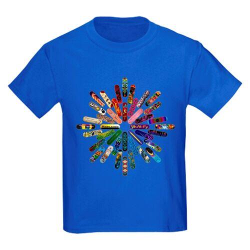 CafePress Skateboard Art Mandala Kids Dark T Shirt Kids T-Shirt 751640762