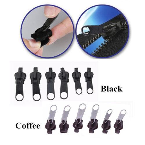 Fix A Zipper Slider Repair Instant Kit Metal Mend Rescue Replacement 6PCS