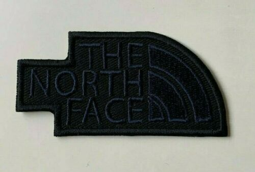Black Embroidered Patch-Badge Iron on Sew on H X W = 3.8cm x 7.5cm