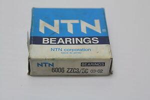NTN-6006ZZC3-L627-Single-Row-Ball-Bearing-5U500-6006ZZ-New