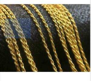 Real-Pure-18K-Yellow-Gold-Necklace-Solid-AU750-18-034-Twisted-Rope-Chain-Necklace