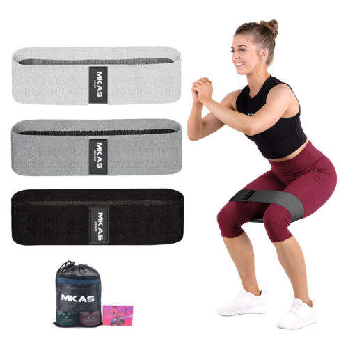 Fabric Resistance Bands Set Long Strength Fitness Body Booty Loop Bands Fitness