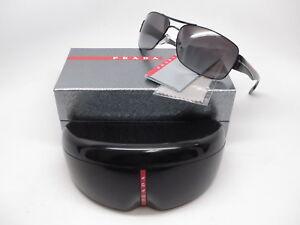 954bda0ee2161 Details about Authentic Prada Sport SPS 53N 7AX-5W1 Black w Grey Gradient Polarized  Sunglasses