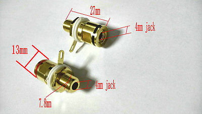 4PCS copper Binding Post Plug Golden Speaker Amplifier Terminal Jack 4mm