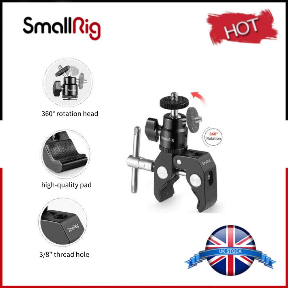 SmallRig Clamp Mount Ball Head Shoe Mount Magic Arm fr Camera Monitor UK 1124