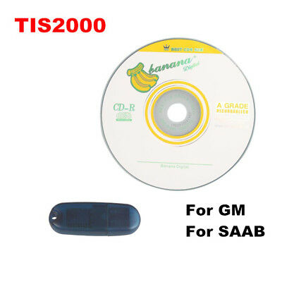 Tech2 TIS 2000 Software CD With USB Dongle KEY For GM Cars Model Free Shipping