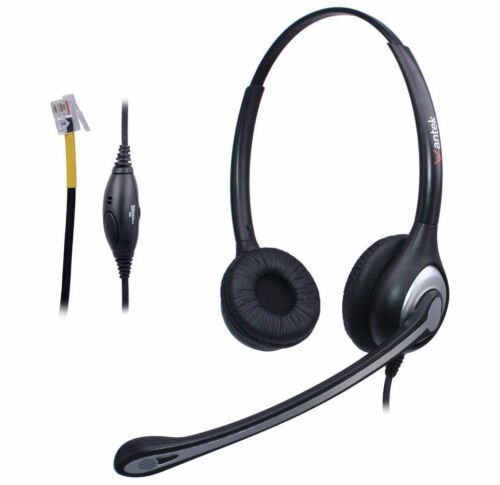 Wantek Headset for Avaya 1608 9620 Cisco 7910 7911 Yealink T20P T22P T26P T28P