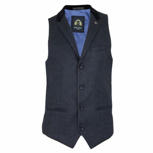 'ronny' Darcy Blazer Detailing Mens Heritage Tweed Blue Marc Waistcoat Contrast qag1wv