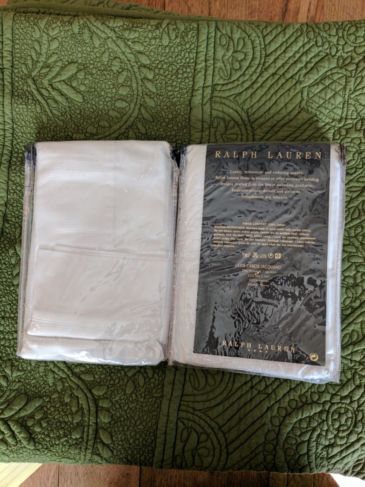 New Vintage Ralph Lauren Home Set Of Two Euro Shams Los Cabos Jacquard