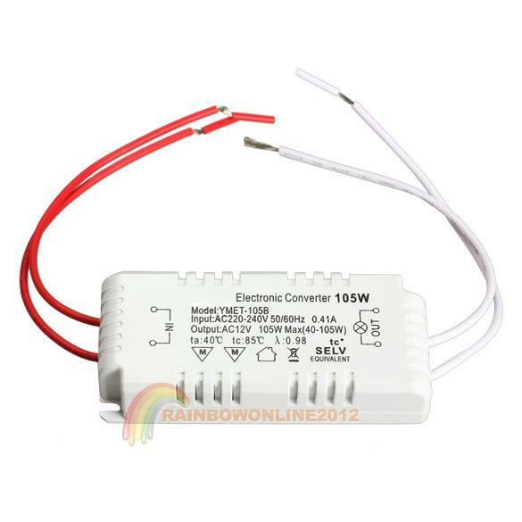 105W 12V Halogen Light Electronic Converter Voltage Power Supply Driver