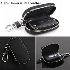 1 Pcs Black Universal Genuine Leather Fashion Car Smart Remote Key Case Fob Bag
