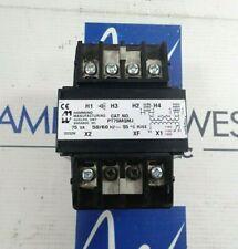 Hammond Pt75mqmj Transformer 75va 1 Phase 240480vac