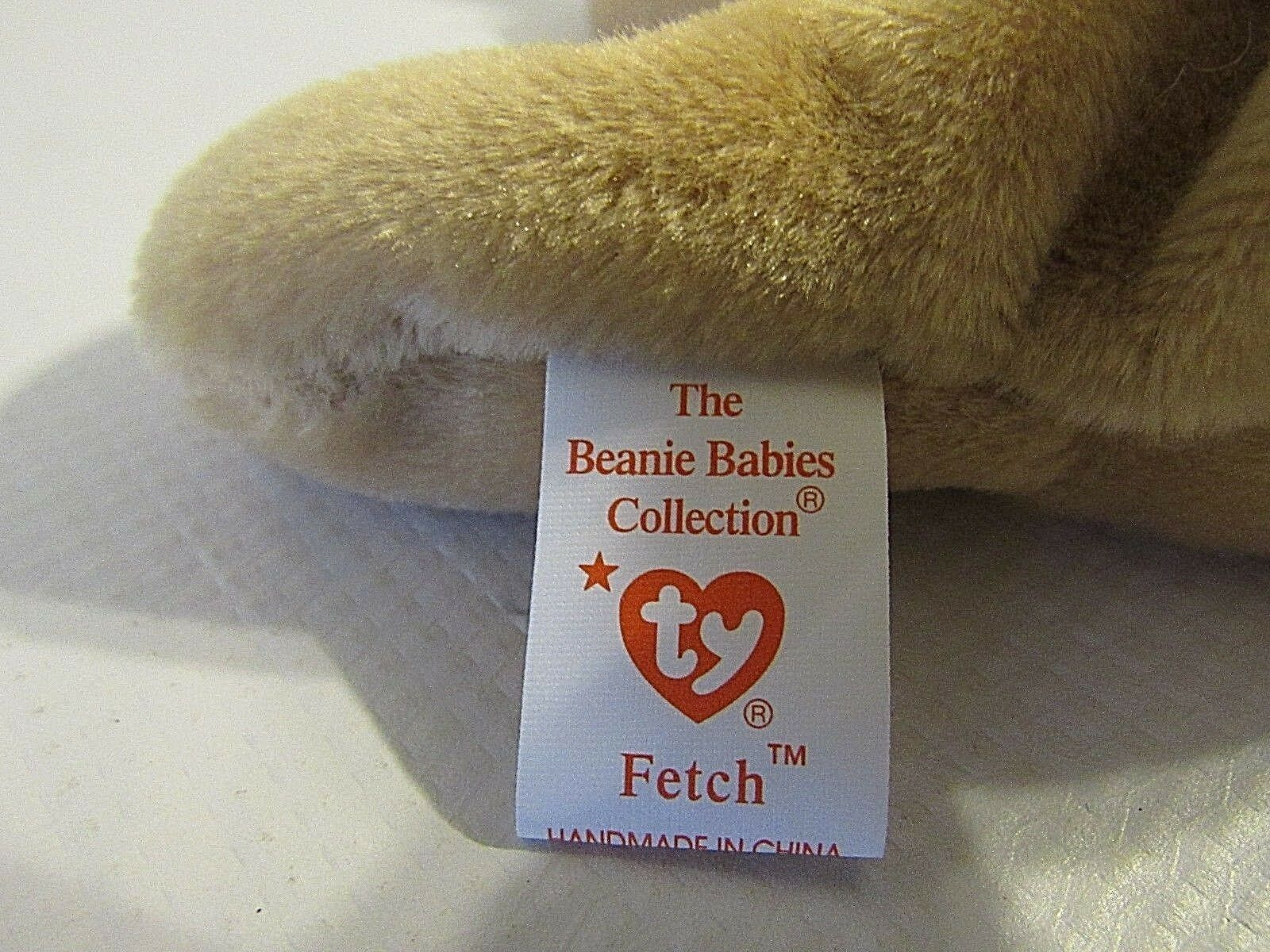 TY TY TY Beanie Babies Collection Retired  Fetch  with Tag Errors (BB) 1b06fa