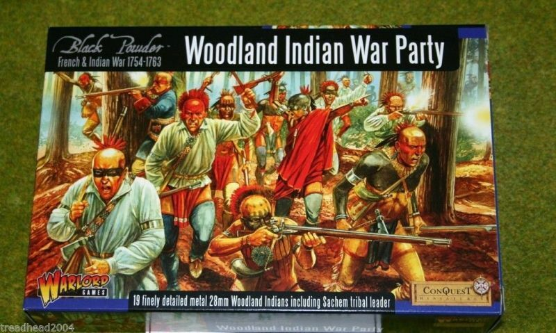 French & Indian Wars WOODLAND WOODLAND WOODLAND INDIAN WAR PARTY Warlord Games  28mm e811dc