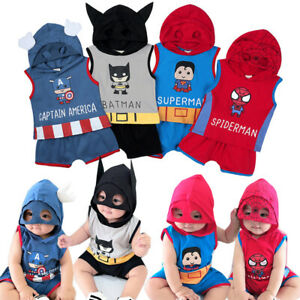 Kid Boys Girl Superhero Clothes Hoodies Sweatshirt Coat Top T-shirt Pant Outfit