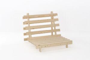 Wooden Futon Sofa Bed Frame Single Or