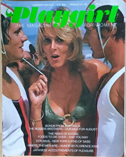 PLAYGIRL Magazine August 1974 Rogers Brothers Don Imus Florence King Japan Gay