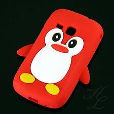 Samsung Galaxy Mini 2 S6500 Silikon Case Handy Schutz Hülle Etui Pinguin Rot 3D