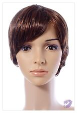 TWO TONE COPPER BROWN SHORT  STYLE LADIES WIG LADY WIG FRINGE, LAYERED