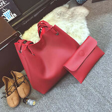 Fashion Women lady Single Shoulder Bag Leather Handbag+Clutch Bag Evening bags